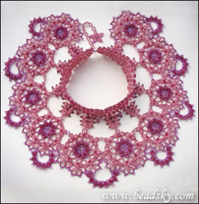 handmade beaded jewelry design, ankars, tatting with the beads