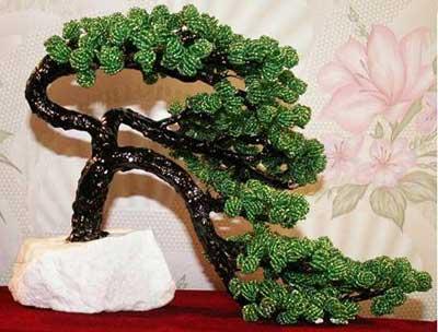 У бисерных деревьев крона